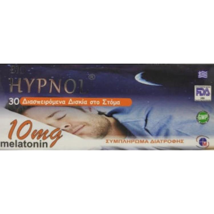 Medichrom Bio Hypnol Melatonin 10mg 30 Διασπειρόμενα Δισκία